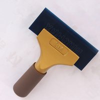 Wholesale Car Vinyl Film Sticker Wrap Tool M BLUEMAX Snow Water ICE Scraper Gold Color Shovel Squeegee Tools with Free Gift Inclined Strip