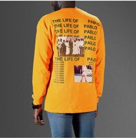 Wholesale 100 of new Kanye West The I Life Of Pablo Kanye T shirt Men Summer Brand Clothing T Shirt I Feel like Kanye Orange Tee