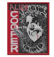 Patches alice music - 3 quot Alice Cooper Killer Patch Metallica Iron Maiden AC DC England Motorhead Manowar Tank band iron on woven band music transfer