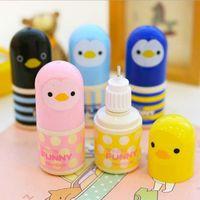 Wholesale Multi Color Mini Cartoon Correction Fluid Happy Animal Kawaii Chicken Corrections With Office Correction Supplies