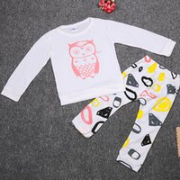 baby girl babywear - Owl Baby Girls Pajamas Newborn Sleepwear Fashion White Baby Clothes Suit Babywear cm Infant Pijamas Long Sleeve T Shirts