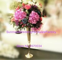 best crystal vase - decoration flower arrangement stands Best selling gold iron Wedding flower stand Centerpiece Vase