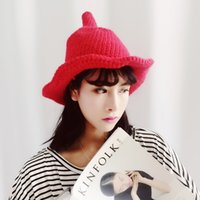 Wholesale the new style South Korean winter hats are creative all match thick warm fur ball knitted hat