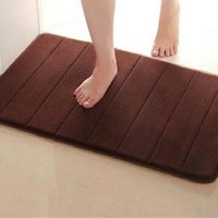Wholesale cm Memory Foam Bath Mats Bathroom Horizontal Stripes Rug Absorbent Non slip Bath Mats