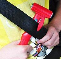 Wholesale Car Safety Hammer Life Saving Escape Emergency Hammer Seat Belt Cutter Window Glass Breaker Car Rescue Tool g