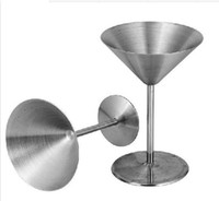 Wholesale stainless steel wine cup hanap wine glass martini champagne cup goblet glass cocktail glass cup metal bar