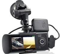 al por mayor dvr del coche dual externa-Cámara del coche del dvr del coche de HD con la lente dual y la leva externa de la rociada del GPS con el dvr del vehículo del g-sensor