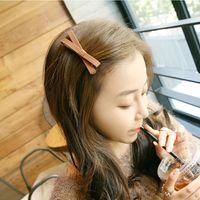 anniversary clip art - Han edition hair headwear cloth art bowknot cross hair clips Small hair Delicate and simple fashion For a girl