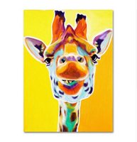 baby hand paint - Lovely Baby Giraffes Pure Hand Painted Modern Wall Decor Abstract Animal Art Oil Painting High Quality Canvas customized size a mei