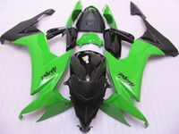 ABS Compression Mold Kawasaki New ABS motorcycle bike Fairing Kits Fit For kawasaki Ninja ZX10R ZX-10R 2008 2009 2010 08 09 10 bodywork Set green and black loves buy