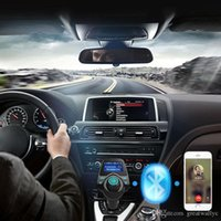 Wholesale Bluetooth Car Kit Hands Free FM Transmitter Handsfree Receiver V Dual USB Charger T11 Multifunction Wireless Car MP3 Player VS T10 DZ09