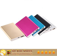 Wholesale Ultra thin slim powerbank mah Ultrathin power bank for mobile phone Tablet PC External battery