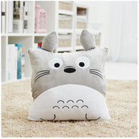 Wholesale Mumlove Cartoon Cute Pillow Cushions Quilt Multifunction Office Nap blanket Office Pillow Car Pillow Double sides Flannel Blanket M Grey