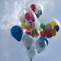 Wholesale 24inch Transparent Helium Balloons for Party Decors