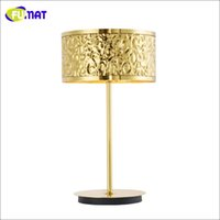 ac project room - Modern Table Lamp Creative Art Mirror Gold Stainless Steel Wave Table Lamp Living Room Hotel Project Lamp Office Bedside Table Light