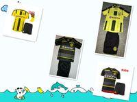 al por mayor xs catsuit amarillo-El kit + los calcetines amarillos caseros de calidad superior 2017 Dortmund de los hombres del jersey de fútbol 16 17 AUBAMEYANG GOTZE MOR KAGAWA REUS SAHIN Customizatio profesional