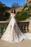 adora wedding dress - Mermaid Weeding DresseS Sweety High Quality Adora Short Sleeve Vintage Castle Lace Dresses Tulle Detachable Sleeveless Backless Empire SJZ