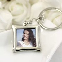 Wholesale FedEx Express Vogue Insert Photo Picture Frame Custom Keyring Key Ring Keychain Lover DIY Gift high quality