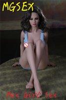Acheter Bon marché des poupées américaines-Sex Poupée Pour Hommes 165cm Cheap Silicone Big Ass Noir Peau American Blonde Nude Girl Huge Breast Warm Doll