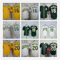 Wholesale Hot sale Oakland Athletics baseball jersey Josh Reddick Campaneris Donaldson jerseys Color gray green yellow White MLB jersey