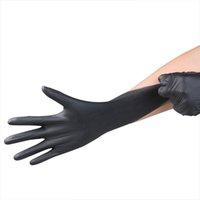 Wholesale tattoo supplies rubber tattoo gloves disposable black color powder free ambidextrous elastic flexible box