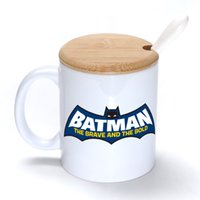 batman brave - Batman The Brave And Bold Mug Coffee Milk Ceramic Cup Creative DIY Gifts Mugs oz With Bamboo cover lid Spoon S202