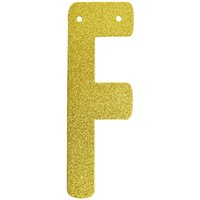 Wholesale pc Only Personalized Hanging Glitter Gold Paper Letter Number Banners Garlands Hanging With String Birthday Party Decorations