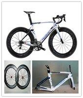 Wholesale White Diy Carbon Road Full Bike Complete Bike With Ultegra Groupset FLCRUM MM Tubular Wheelset