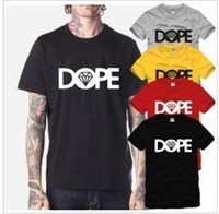 Wholesale Men And Women Fund Lovers Dark Locomotive European Dope O Diamonds Tide Edison Chan BOX Pure Cotton Short Sleeve T Pity