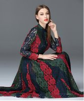 Wholesale 2016 Brand New women s lace long dress mix three colors