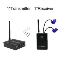Wholesale TP WIRELESS In Ear Monitor System Professional Stage Wireless Monitor System Receiver Earphone Transmitter and N receivers