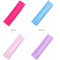 Wholesale Yoga elastic hair towel wide hair with sports outdoor travel Body Building wash headband multi color optional