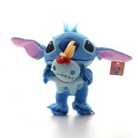 Wholesale Amazing Blue Lilo and Stitch Hold Scrump Style Plush Toys Boys Collection Cartoon Moive Figure Toy Doll inch Brand New