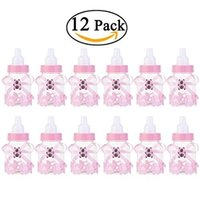 baby shower fillable - Fillable Bottles Candy Box Girl Baby Shower Party Favour Christening Pink Blue