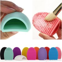 Wholesale Professional Color choice clean makeup brushes Egg Silicone Cleaning Glove MakeUp Washing Brush Board Brushes