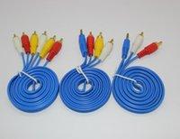 Factory 3M Professionnel plaqué or plaqué 2 RCA mâle à 2 RCA mâle composite câble vidéo audio AV câble connecteur Plug