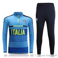 Wholesale football jerseys Thai Quality New Real Italian Long Sleeve Training Clothing embroidery