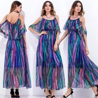 2017 New Print Beach Dress Sexy Suspender Robes Boho Bohemian People Holiday Summer Long Femmes Party Ladies Robes Vestidos Mujer
