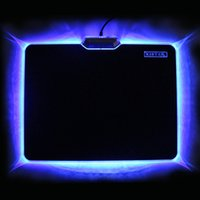PVC+Rubber acrylic edge lighting - 100 Original Brand New Design Glowing Light Gaming Mouse Pad Mat Anti slip Rubber Bottom Acrylic Locking Edge Six Colors China Manufacturer