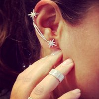 Wholesale Women Lady Crystal Statement Jewelry Crystal Snowflake Asymmetric Stud Earrings Party Jewelry Earrings Wedding Party Valentine Gift