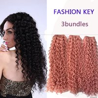 Synthetic hair best hair dye for weave - Fashionkey Best selling for fashion lady kinky Curly Hair weaves synthetic kinky curly weave Bundles can be dyed as you like ZS153