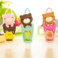 Wholesale Lovely Teddy Bear hung Travel portable Mini Plastic Bottle hand sanitizer Shampoo Makeup fluid bottle Bathroom XF DG1