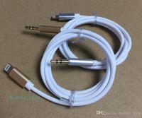 al por mayor auriculares jack de 3.5mm-Cable AUX para Apple i7 / iPhone7 / iPhone 7 Plus Auriculares Adaptador de Jack Iluminación a 3,5 mm Male Cable para auriculares Cable 1M3FT