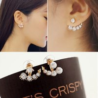 beauty drama - New arrival fashion beauty of television dramas with Sarah seul set auger pearl stud earrings for woman