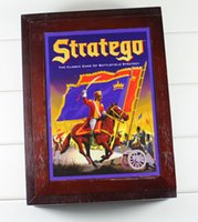 Wholesale Stratego Board Game Wooden Box Famous Vintage Game Collection Classic Game Battlefield Strategy Western Military Chess Boutique Box b583