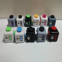 Wholesale 2017 Magic Fidget Cube Anti anxiety Decompression Toy Adults Stress Relief Kids Toy Gift Colors OTH331