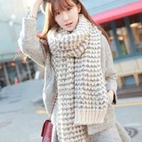 Wholesale Ms han edition in the fall and winter of mohair scarf long thickening of wool knitted collar with thermal couples