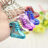 acrylic shoe holder - Creative personality exquisite simulation of high shoes key buckle transparent acrylic shoes nursery school activities and gifts