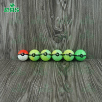 Wholesale low price the elves ball poke ball shape food grade silicone container DHL free S