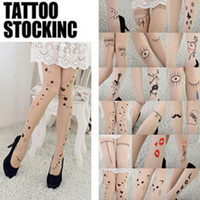 animal print tattoos for women - Women Tights Style for Choice Tattoo Pattern Transparent Sheer Pantyhose Tights Lovely Fashion Women Accessories